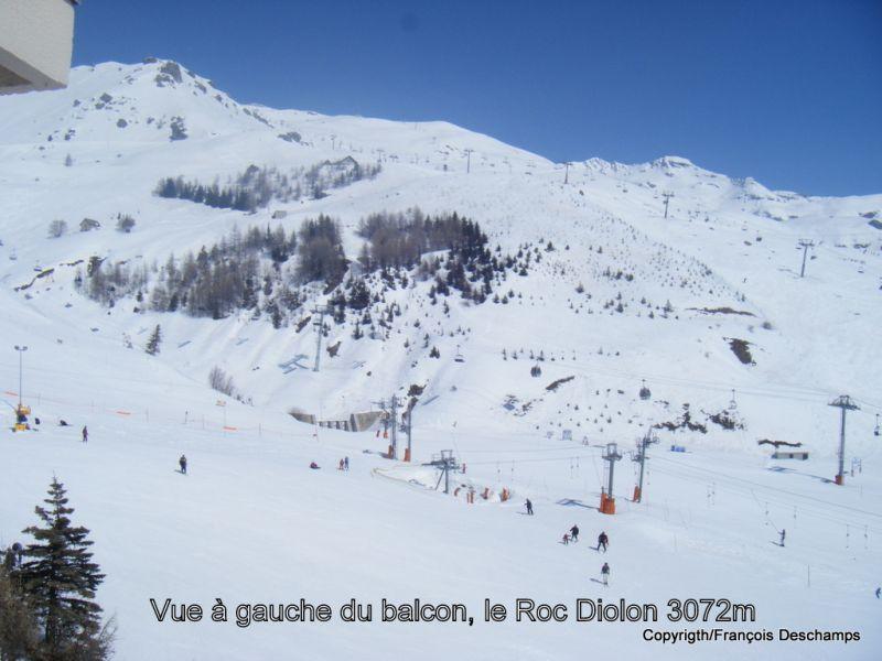 Vue du balcon Location Studio 53390 Orcières Merlette