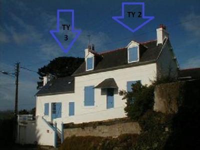 Vue ext�rieure de la location Location Maison 53936 Plougasnou