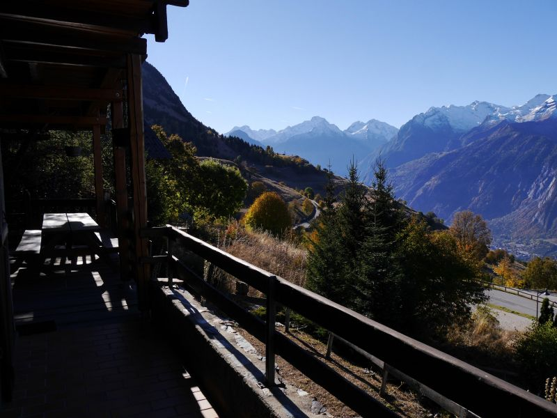 Vue du balcon Location Chalet 54265 Alpe d'Huez