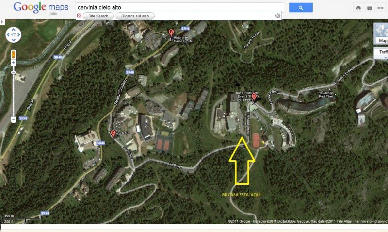 Plan de la location Location Studio 54302 Cervinia (Breuil)