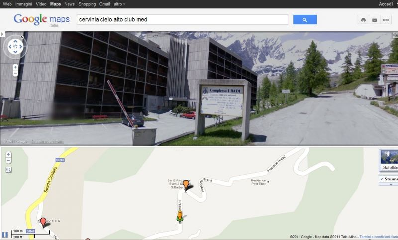 Carte Location Studio 54302 Cervinia (Breuil)