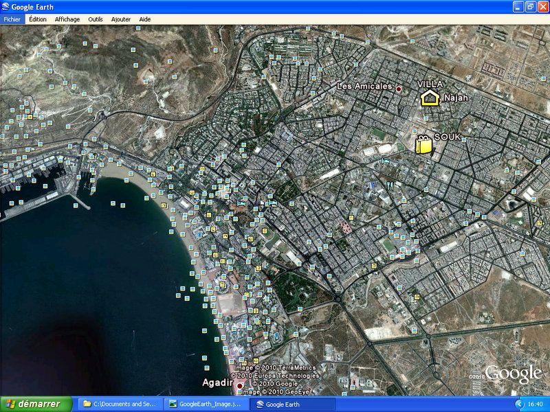 Carte Location Villa 54307 Agadir
