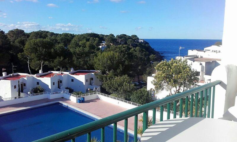 Vue du balcon Location Studio 54638 Cala Tarida