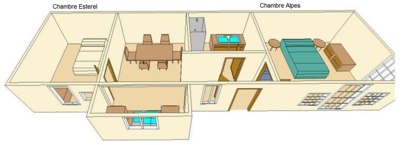 Plan de la location Location Appartement 5498 Cannes