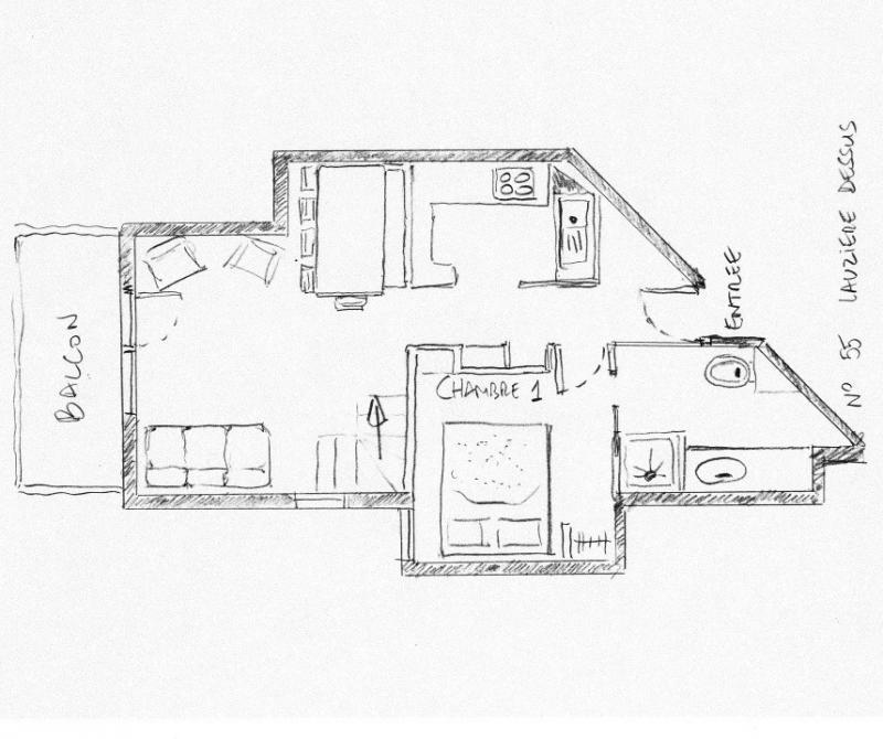 Plan de la location Location Appartement 55934 Valmorel