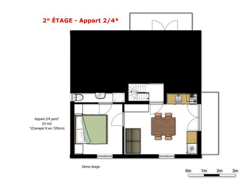 Plan de la location Location Chalet 56090 La Plagne
