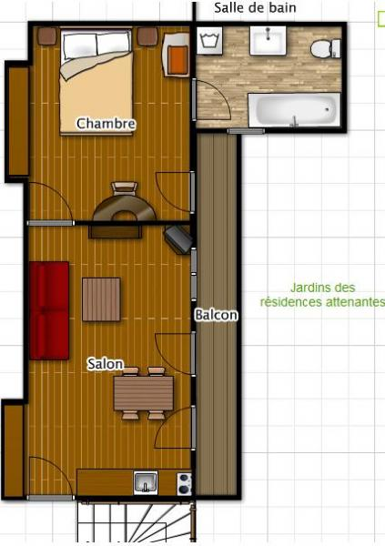 Plan de la location Location Appartement 56119 Cauterets