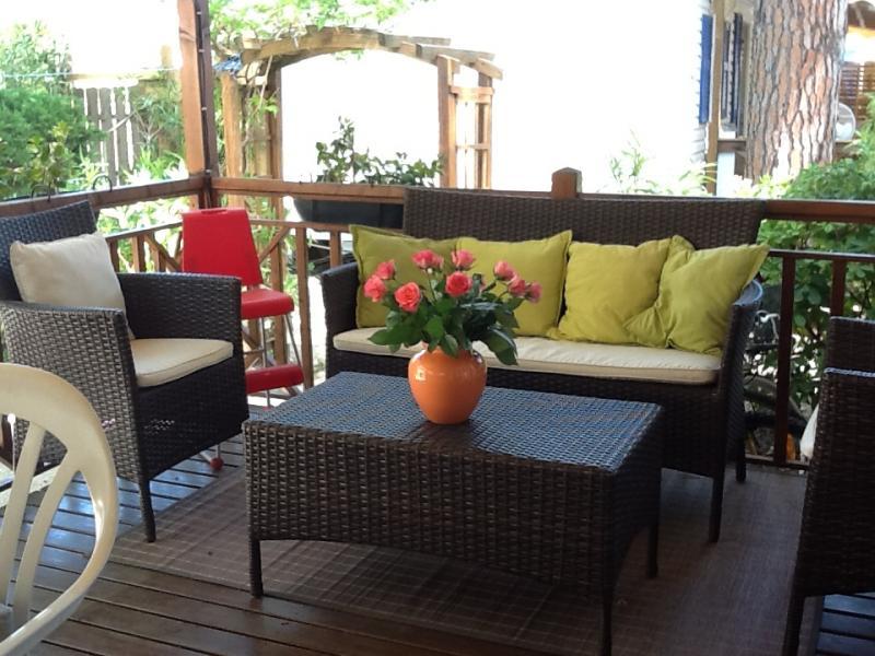 Vue de la terrasse Location Mobil-home 5671 Ramatuelle