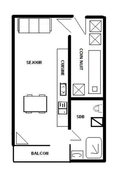 Plan de la location Location Studio 57332 La Plagne