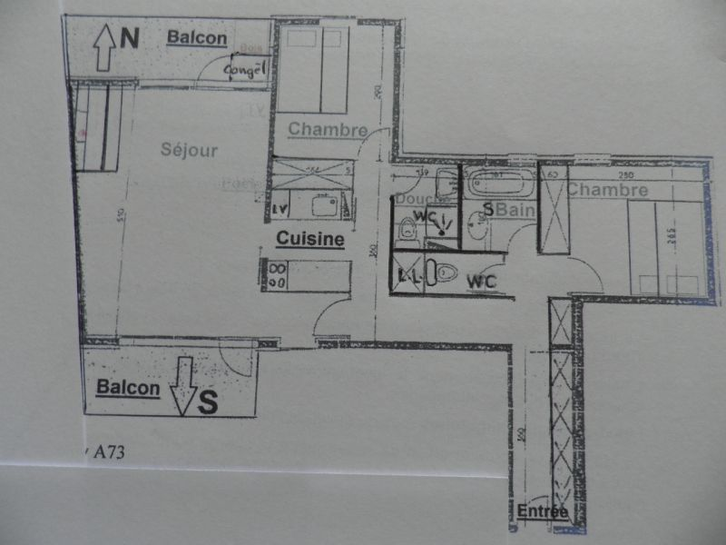 Plan de la location Location Appartement 58207 La Plagne