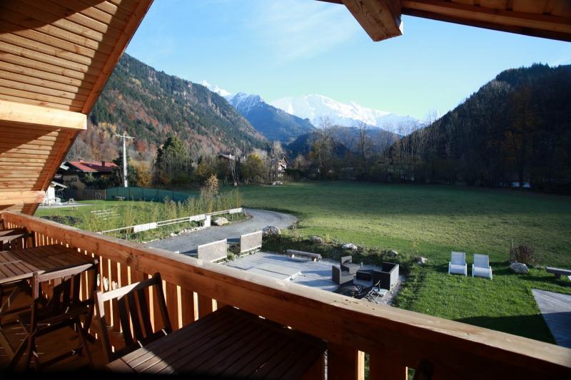 Vue depuis la location Location Appartement 58539 Saint Gervais Mont-Blanc