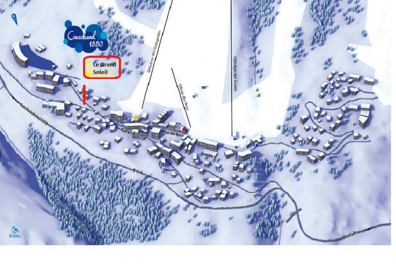 Carte Location Chalet 58837 Courchevel