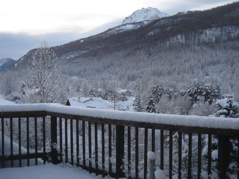 Vue de la terrasse Location Appartement 58839 Serre Chevalier