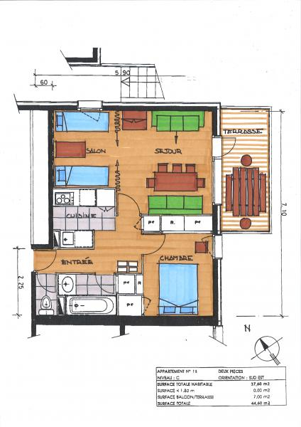 Plan de la location Location Appartement 58961 Valmorel