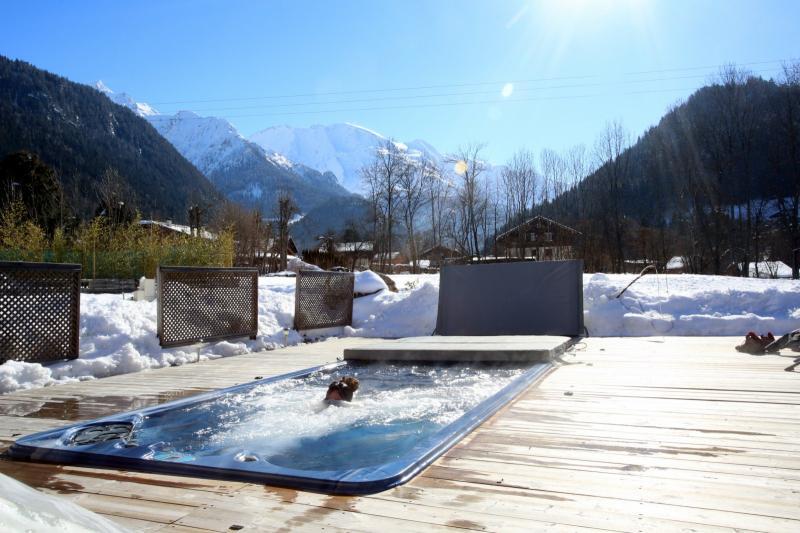Vue depuis la location Location Appartement 59034 Saint Gervais Mont-Blanc
