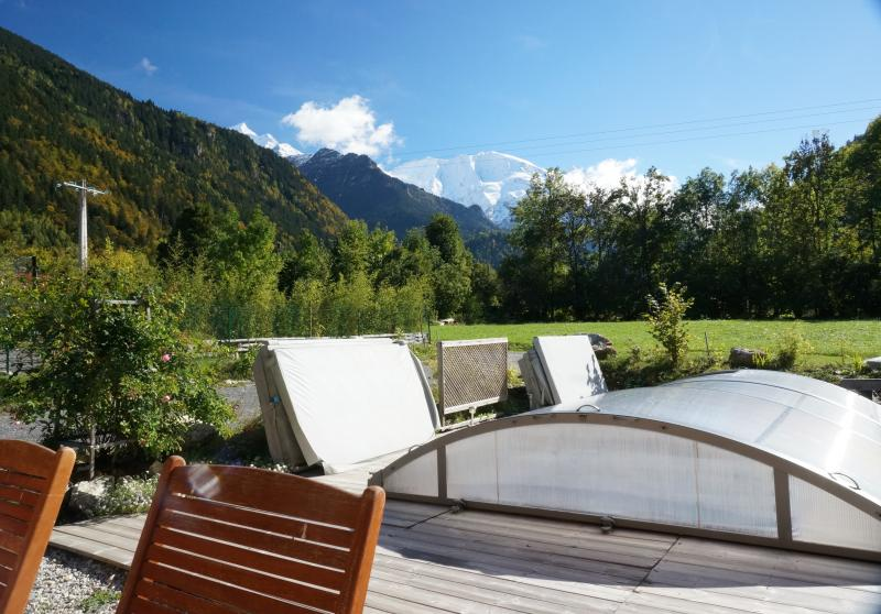Vue de la terrasse Location Appartement 59034 Saint Gervais Mont-Blanc