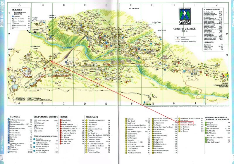 Plan de la location Location Appartement 59536 Saint Gervais Mont-Blanc