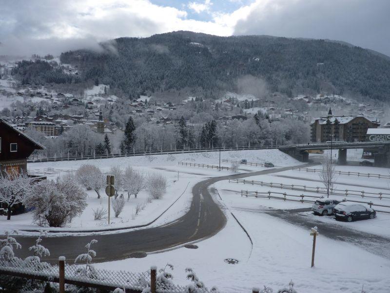 Vue du balcon Location Appartement 59536 Saint Gervais Mont-Blanc