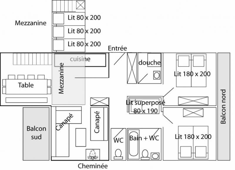 Plan de la location Location Appartement 60012 Tignes