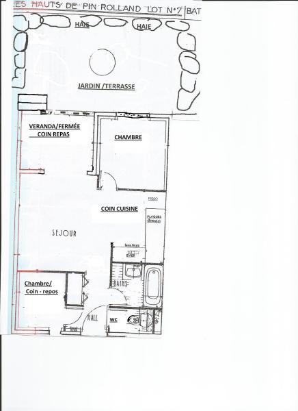 Plan de la location Location Appartement 60112 Saint Mandrier sur Mer