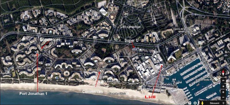 Plan de la location Location Studio 6019 La Grande Motte