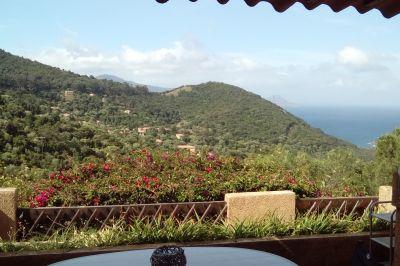 Vue de la terrasse Location Gite 60485 Porto