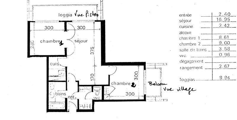 Plan de la location Location Appartement 60817 Le Corbier