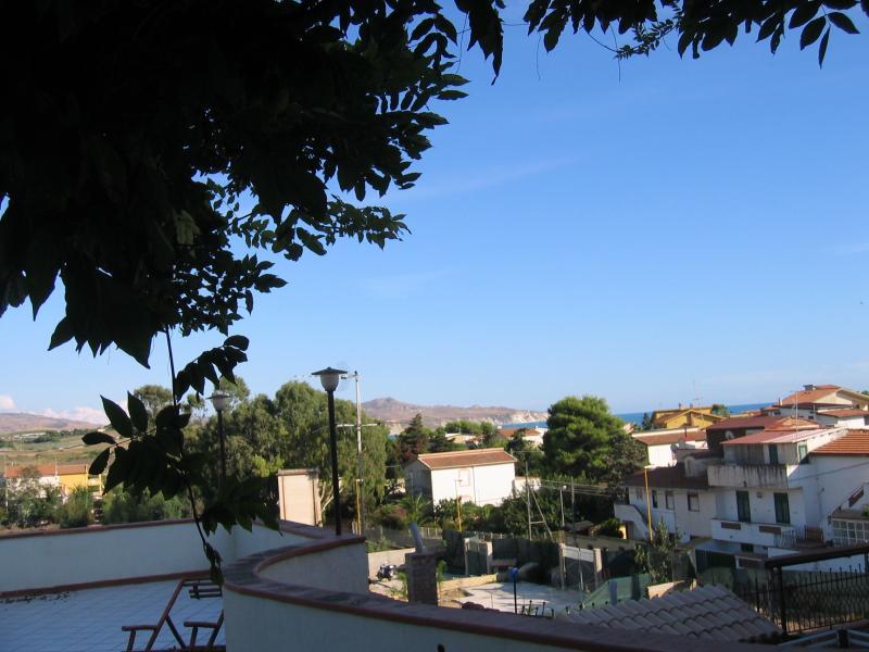 Vue de la terrasse Location Appartement 61380 Lido di San Leone