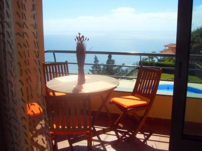 Vue du balcon Location Appartement 61591 Calheta