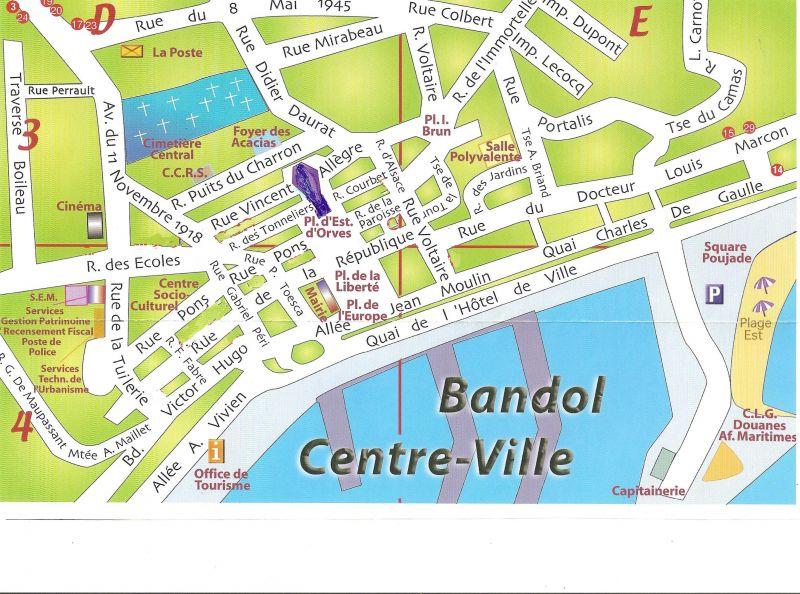 Carte Location Appartement 62006 Bandol