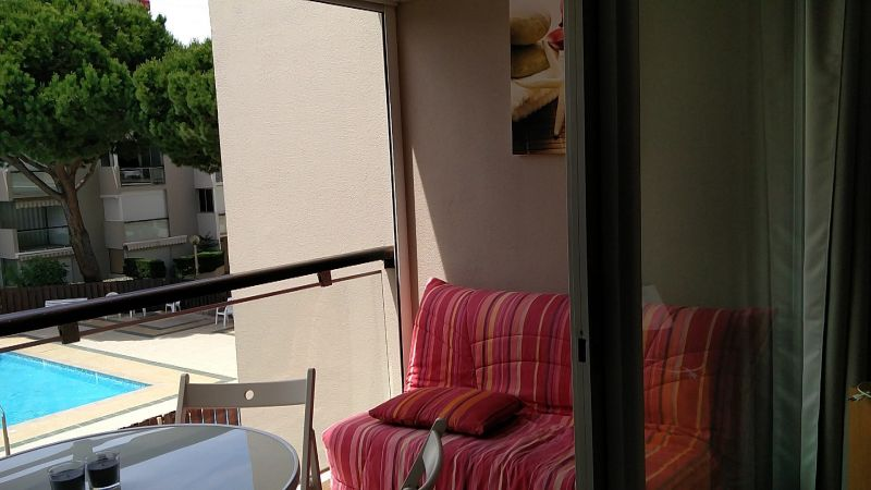 Vue du balcon Location Studio 6265 Gruissan