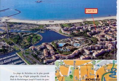 Vue ext�rieure de la location Location Appartement 62881 Cap d'Agde