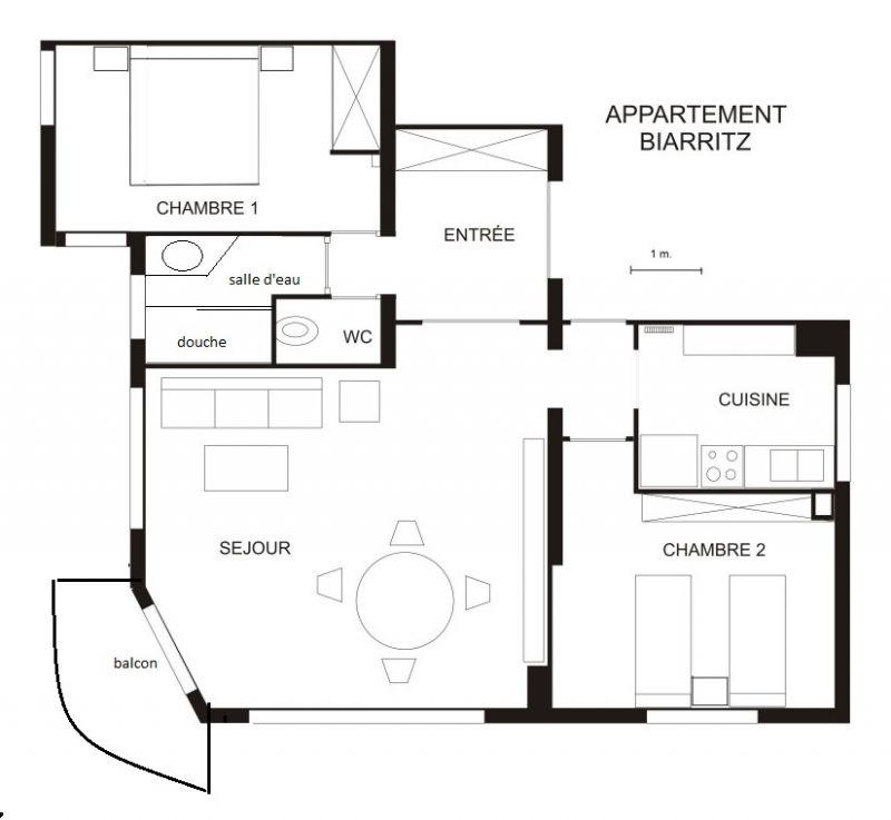 Plan de la location Location Appartement 6424 Biarritz