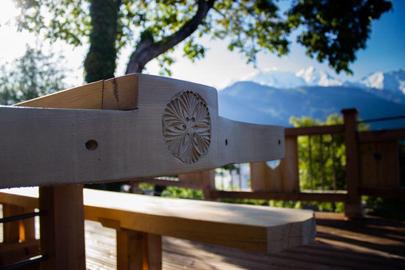 Vue de la terrasse Location Chalet 651 Chamonix Mont-Blanc