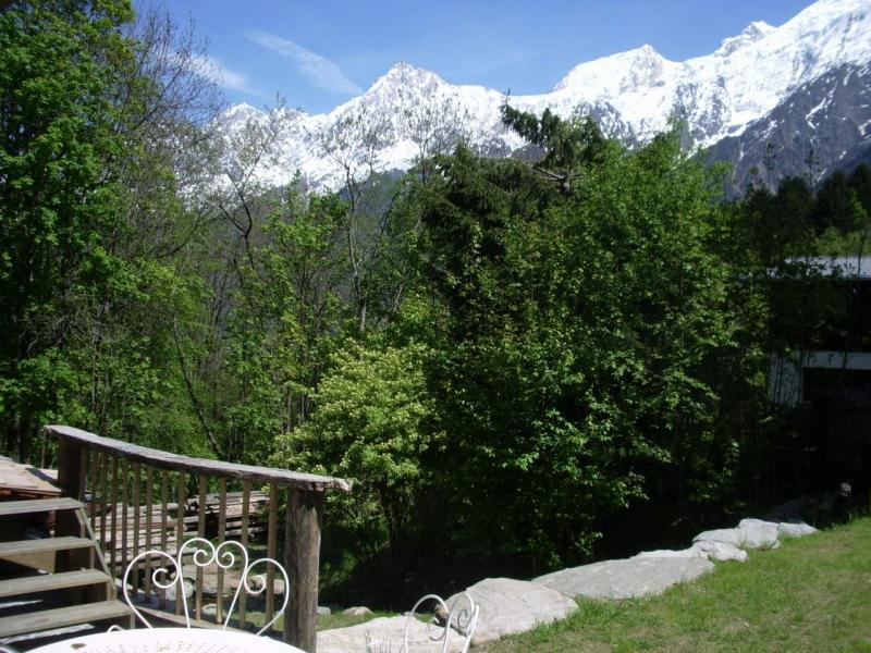 Terrasse Location Chalet 686 Chamonix Mont-Blanc