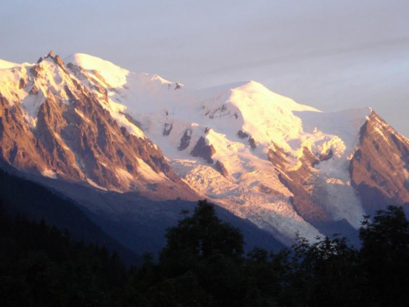 Vue de la terrasse Location Chalet 706 Chamonix Mont-Blanc