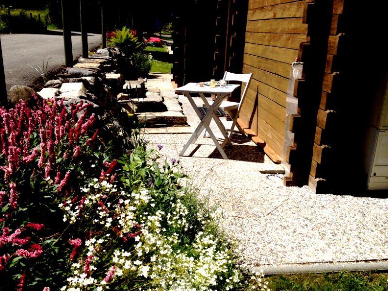 Vue de la terrasse Location Chalet 800 Châtel