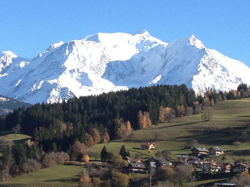 Vue de la terrasse Location Chalet 896 Combloux