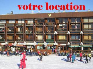 Vue ext�rieure de la location Location Studio 997 Le Corbier