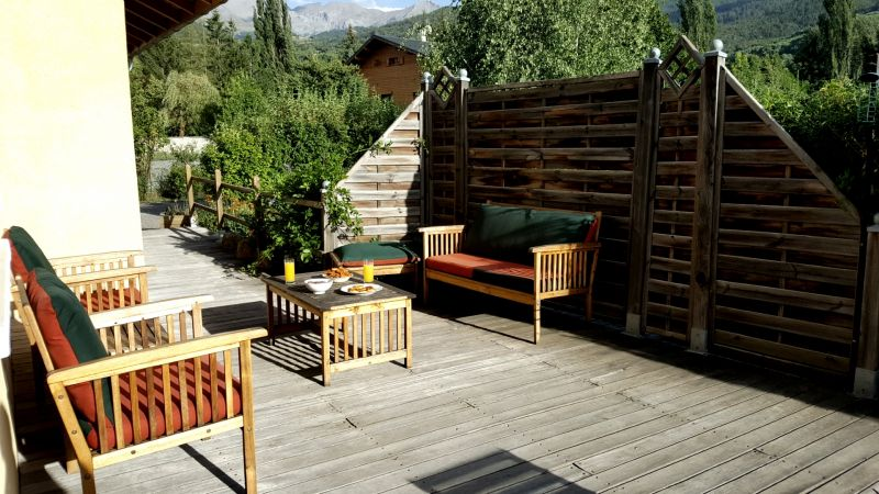 Vue de la terrasse Location Villa 101058 Barcelonnette