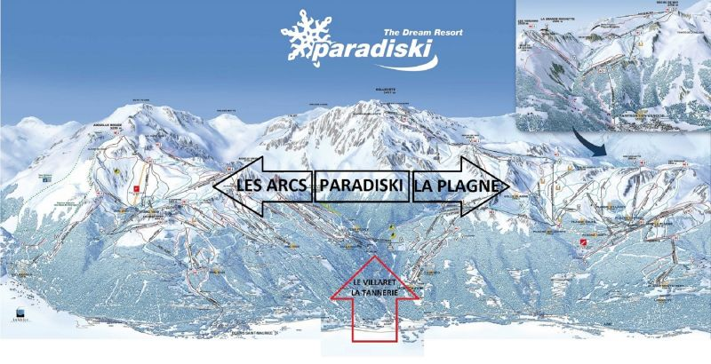 Carte Location Appartement 101665 Peisey-Vallandry