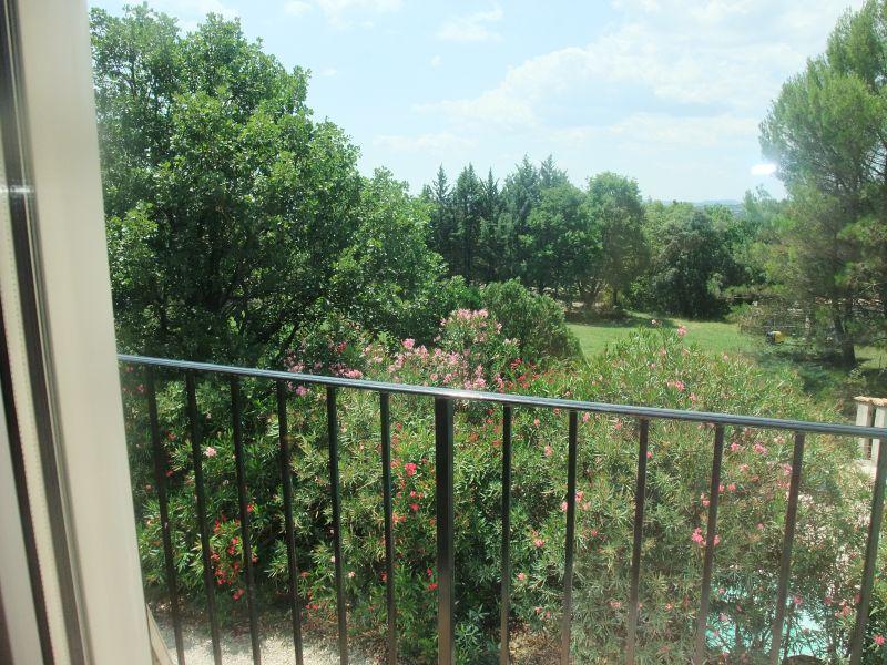 Vue du balcon Location Villa 103766 Anduze
