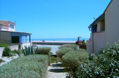 Vue de la terrasse Location Maison 108298 Saint Pierre la Mer
