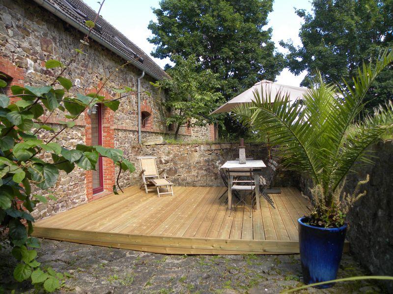 Vue de la terrasse Location Maison 110426 Saint Vaast la Hougue