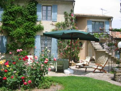 Vue de la terrasse Location Gite 79746 Avignon