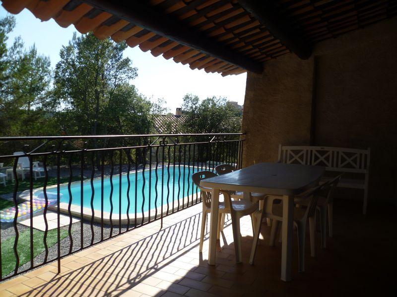 Vue de la terrasse Location Maison 93624 Gréoux Les Bains