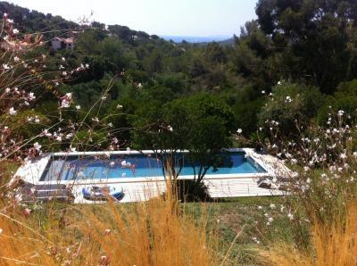 Vue de la terrasse Location Villa 94639 La Croix Valmer