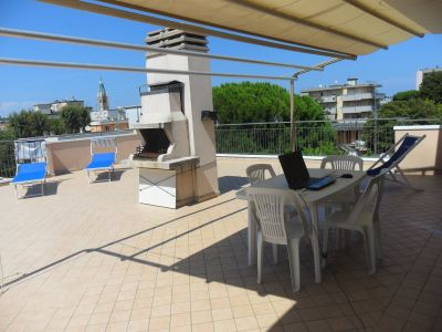 Vue de la terrasse Location Appartement 100445 Rimini