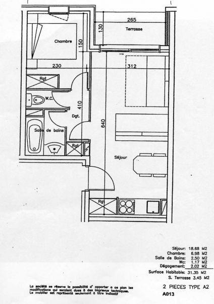 Plan de la location Location Appartement 106783 Serre Chevalier