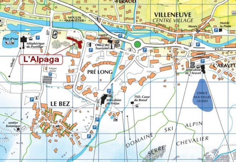Carte Location Appartement 106783 Serre Chevalier
